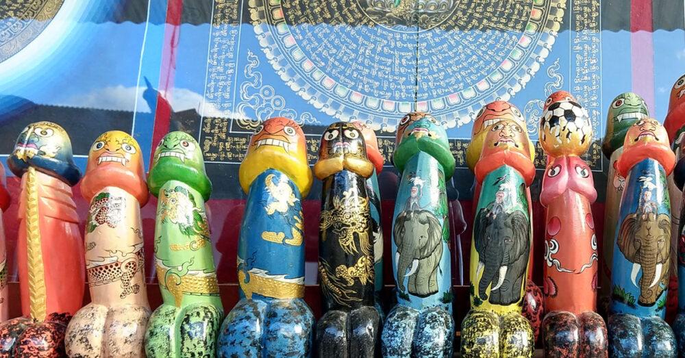 wooden bhutanese phallus souvenir
