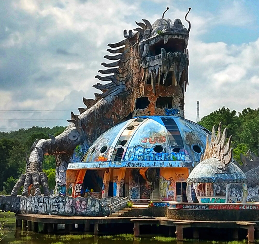 Hue with kids things to do in Hue with kids giant dragon disused water park