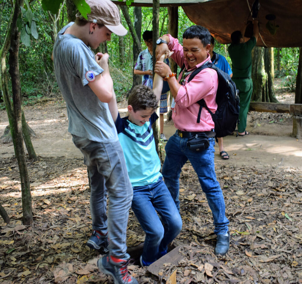 cu chi tunnels with kids