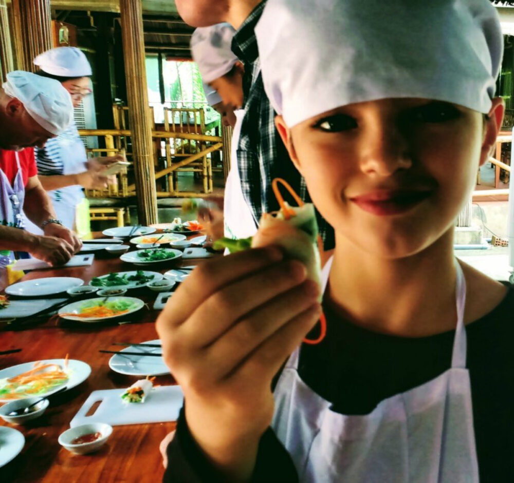 things to do in Vietnam with kids cooking class