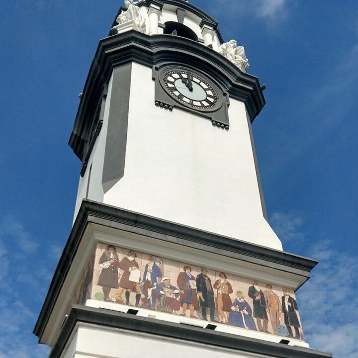 ipoh figures on the birch memorial clock tower