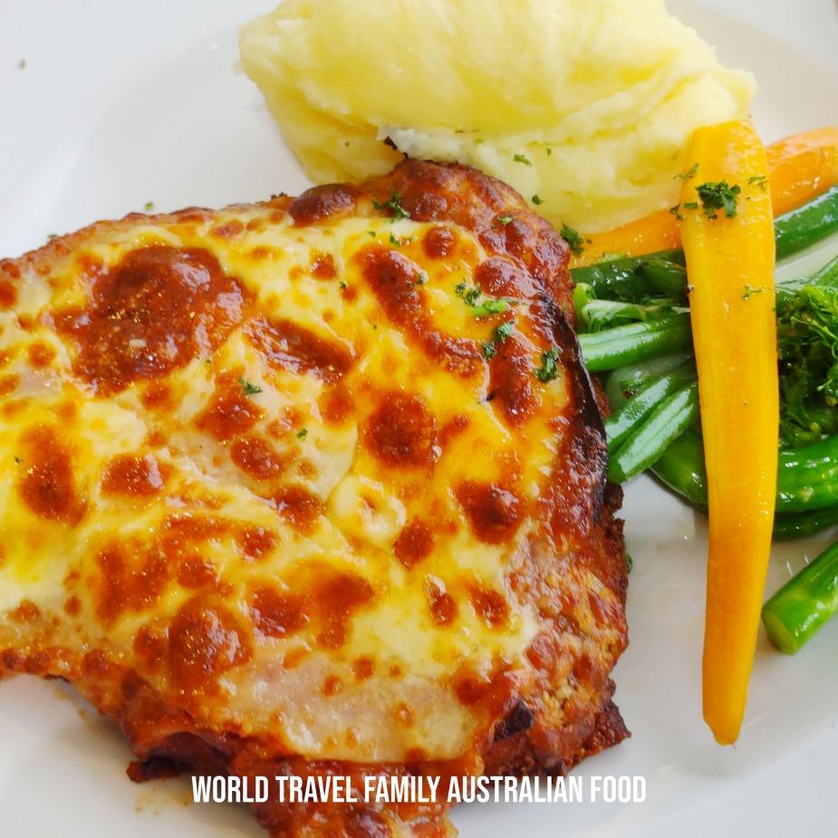 popular australian food chicken parmie