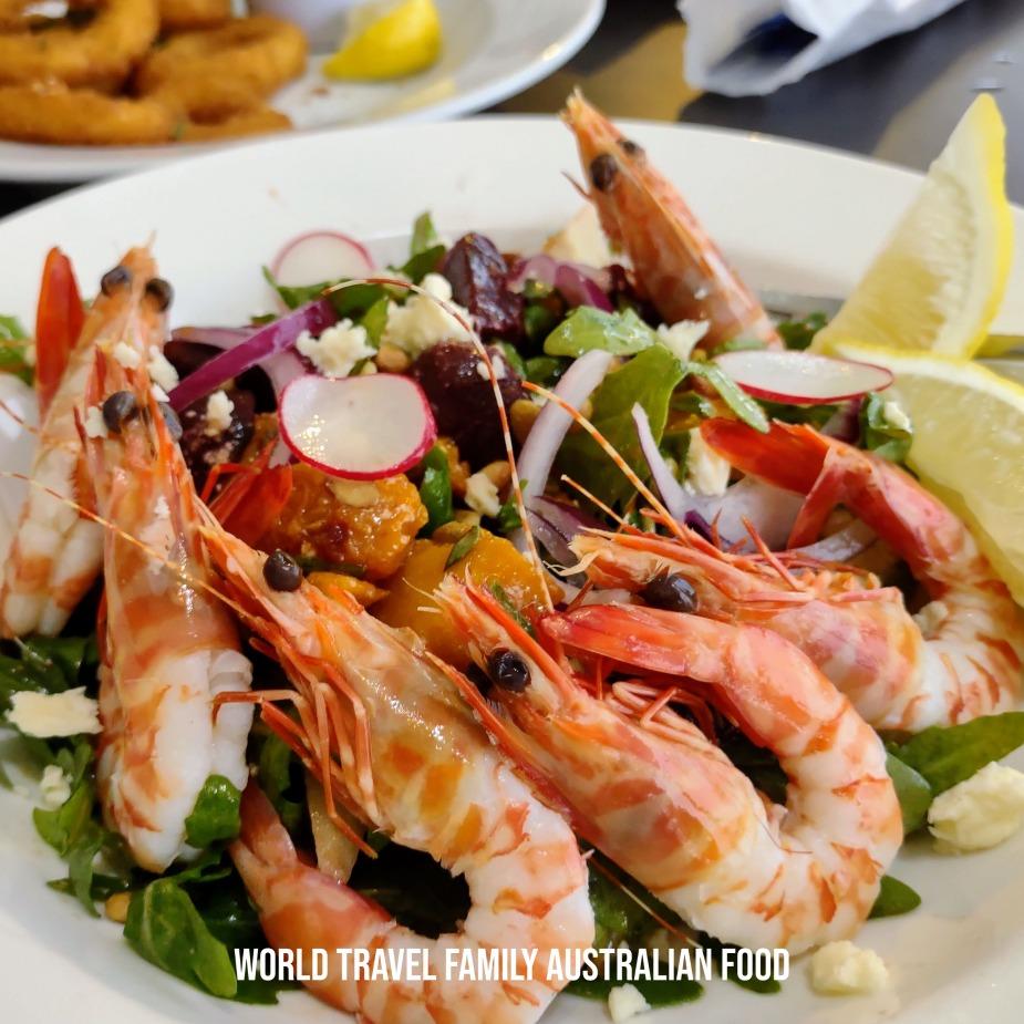 popular australian food prawns