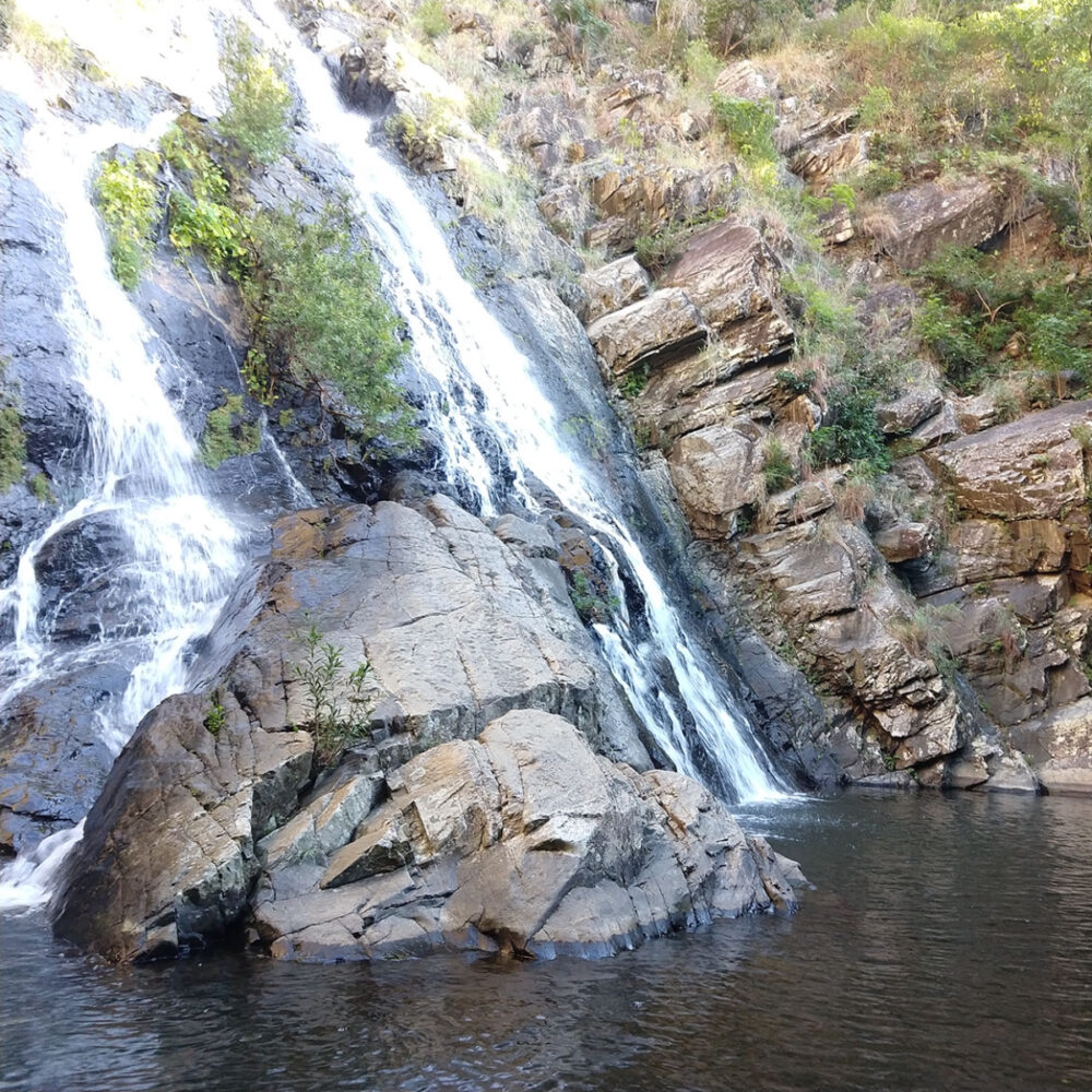 The waterfalls at Hartley's Creek north of Cairns