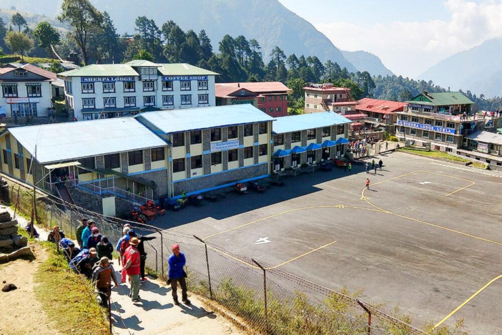 Lukla airport terminal buildings