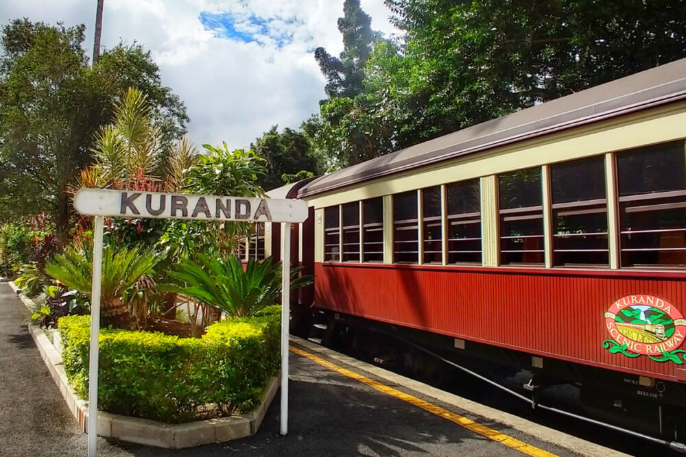 Things to do in Cairns with kids take scenic railway
