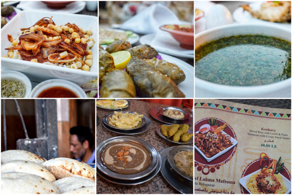 egyptian food comes from many countries and regions
