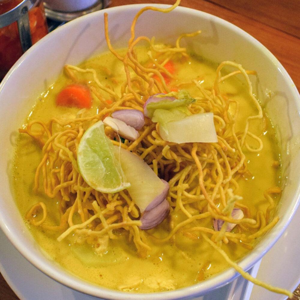 khao soi southeast asian curry noodle soup north thailand and laos