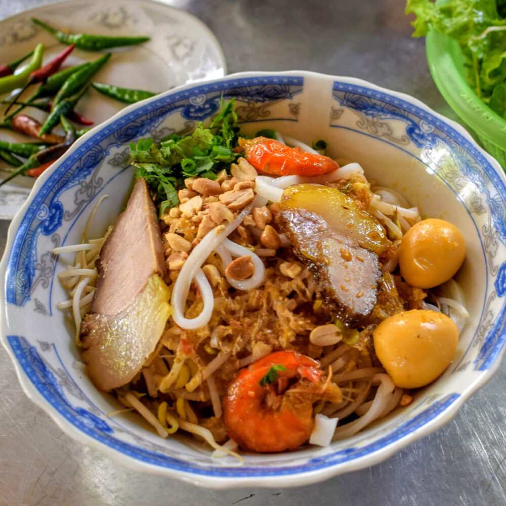 mi quang delicious noodle dish from southeast asia found in Vietnam