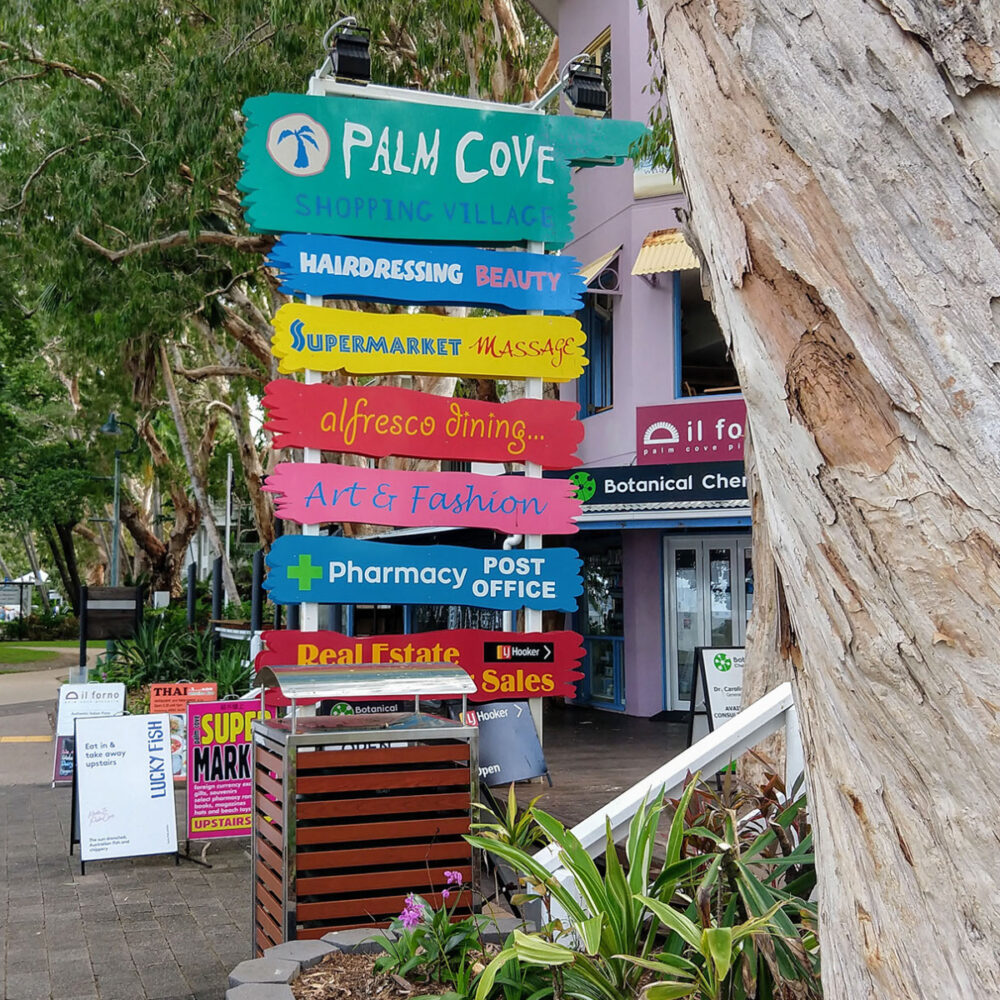 Palm Cove shops north of Cairns