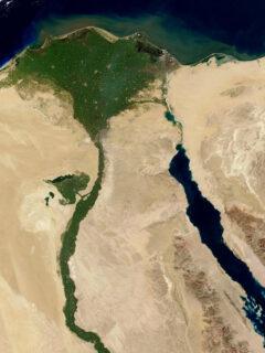 where is egypt map satellite photo