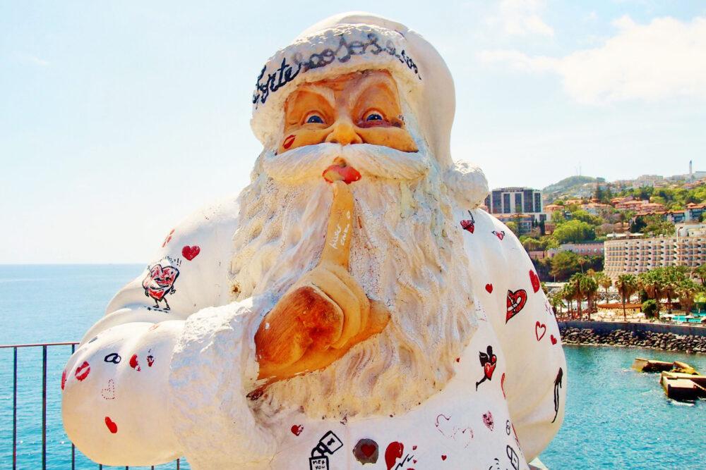 european Santa Clause in white