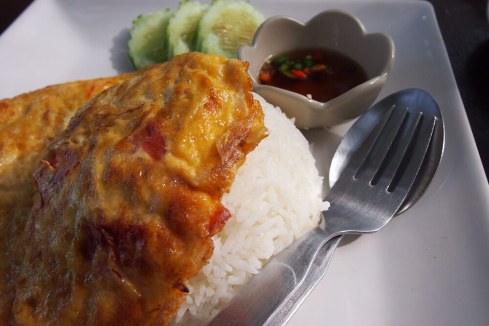 thai omelette with rice
